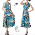 AU SELLER 50'S Vintage Sexy Floral  V-Neck Sleeveless Dress dr141-8