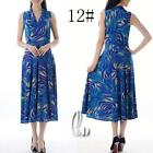 AU SELLER 50'S Vintage Sexy Floral V-Neck Sleeveless Dress dr141-12