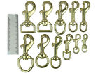 BRASS SWIVEL TRIGGER HOOKS, SNAP, CLIPS, DOG LEAD, SPARE, REPLACEMENT, STRONG