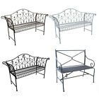 Garden Bench Outdoor Patio Metal Bench Vintage Rustic Style Luxury Furniture New