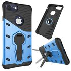 For iPhone 7 Tough Armor TPU+PC Combination Case Shock-Resistant 360 Degree Spin