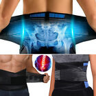 Neoprene Double Pull Lumbar Support Adjustable Lower Back Brace Belt Pain Relief