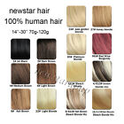 Clips in100% Remy Human Hair Extensions Full Head 100g120g Any Colors Choose