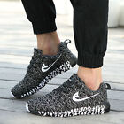 Men Women's Fashion Leather Casual Lace Up Sneakers Trainer Sport Athletic Shoes