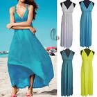 AU SELLER Sexy Soft Silk Cotton Backless Party Maxi Dress Beach Cover Up dr166