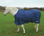 Rhinegold 'Atlanta' Lightweight Fleece Lined Outdoor Rug Turnout Rug - Blue