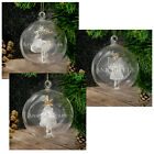 Luxury Christmas Tree Engraved Glass Bauble Personalised Name Xmas Decorations
