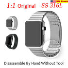 1:1 316L Stainless Steel Bracelet Watchband For iwatch 38/42 Silver US Seller