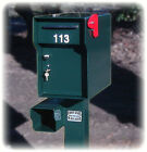 """Vacationer ~ Ft. Knox 1/4"""" STEEL Locking Mailbox 136LBS! Lock up your mail"""