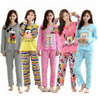 UK Ladies Womens Pyjamas pj Set Long Sleeve Top Nightwear LoungeWear pajamas