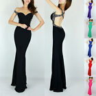 New Sexy Mermaid Backless Evening Pageant Cocktail Long Gown Party Wedding Dress