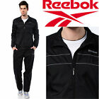 NEW Reebok Core Woven Black Full Tracksuit Top & Bottoms Track Pants 2016/2017