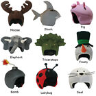 moose clothing - Ski Snowboard Bicycle Snow Helmet Cover Crazy Animal Moose Shark CoolCasc NEW +