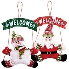 Christmas Decor Xmas New Wreath Christmas Garland Party Hanging Home Door Decor
