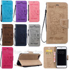 New Flip Bear Pattern Stand PU Leather Cover Soft Case Card Pocket For Lot Phone