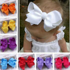 Fashion Grosgrain Ribbon Bow Hair Clip Pin Aligator Clips Flower Baby/Girl JYL