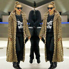 2016 Sexy Leopard Print Women Long Jakcet Winter Coat Parka Faux Fur Outerwear