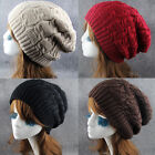 Women Men Crochet Winter Thick Knitted Baggy Slouchy Casual Beanies Hat Warm Cap