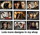 Sam & Dean  Framed Picture with working clock, Not Cd Clock, Xmas, supernatural,