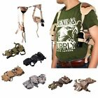 Tactical Shoulder Holster Adjustable Military Pistol Gun Magazine Pouch Closure