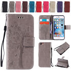 Luxury Tree Leather Magnetic Flip Card Wallet Case Skin Cover For iPhone Samsung
