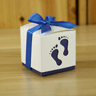 10pcs Laser Cut baby foot Gift Candy Bomboniere Baby Shower Favour Boxes