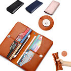 New Original Genuine Leather Wallet Card Clip Case Cover Skin For Various Phones
