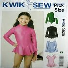 Kwik Sew Sewing Pattern 3507 3508 Skirt Leoatrd Gym Skate Dance Costume