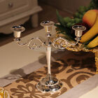 Wedding Romantic Metal Crafts Candelabra Alloy 3-5 Arm Candle Holder Stand Chris