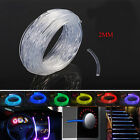 2mm Car Home LED Lighting Decoration PMMA Side Glow Fiber Optic Cable 3-100M
