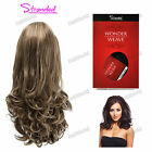 """Stranded 18"""" Synthetic Wavy Curly Half Head Wig 3/4 Weave – Amy"""