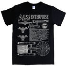 STAR TREK USS ENTERPRISE T-shirt NCC-1701 James T Kirk Spock S - 5XL blueprints