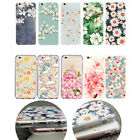 Cute Cartoon Flower Pattern Floral Silicone TPU Case Cover Skin For Apple iPhone