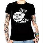 X NEW UNISEX HAUNTED CITY ROLLERS ROLLER DERBY BASHER STYLE T-SHIRT S/3XL NICE!!