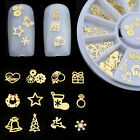 3D Gold Decal Stickers DIY Nail Tips Stamping Manicure Stickers Art Decoration