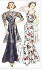 #85 1930 EVENING GOWN WITH LACE TUNIC PATTERN