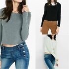 New Express Women's Engineered Rib Long Sleeve Cropped Sweater Size XS, Small