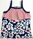 NWT Jumping Beans Red White Blue Floral Tank Top Baby 3M 6M 9M 12M 24M, 3T 4T