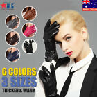 6 Colors 3 Sizes Women Winter Warm Leather 100% Cashmere lined Gloves