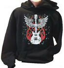 Gothic Winged Guitar Music Musical Instrument Adult Hoodie