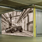 car pictures wallpaper - Vintage Formula Race Car Wall Mural Black & White Photo Wallpaper Sports Decor