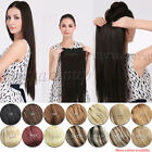 Five Clips In One piece Human Hair Extensions Full Head 140g150g160g180g200g