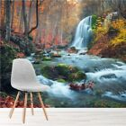 Waterfall River Wall Mural Autumn Forest Photo Wallpaper Living Bedroom Decor