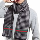 Autumn And Winter Fashion Mens Warm Soft Knitted Long lattice Scarf