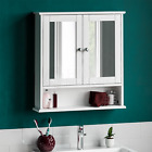 Bathroom Cabinet Single Double Door Wall Mounted Tallboy Cupboard Wood White <br/> 10% off with code PRO10. Min spend &pound;20. Max &pound;50 off.