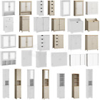 Bathroom Cabinet Single Double Door Wall Mounted Tallboy Cupboard Wood White