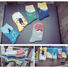 New Fashion Women Cotton Ankle Socks Sports Casual Cute Cartoon Hosiery
