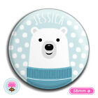 Personalised POLAR BEAR Compact/Handbag/Purse/Makeup/Bag Pocket Mirror (58mm)