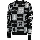 Oakland Raiders  Ugly Patches Christmas Sweater NEW All Sizes $44.95 USD on eBay