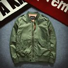 Men Casual Air Jacket Zipper MA1 Army Flight Bomber Jacket Coat Outwear s to 2xl